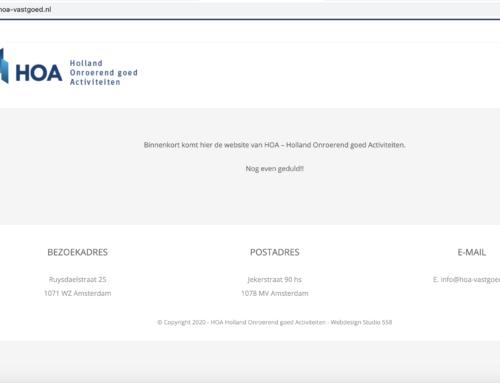 In ontwikkeling: website HOA